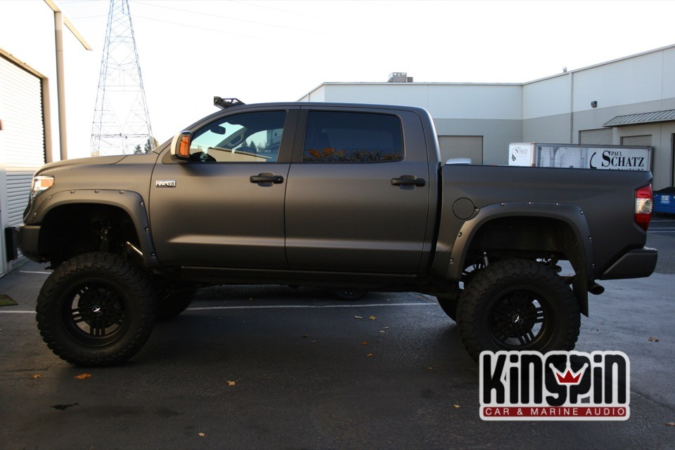 2014 Toyota Tundra Flat Matallic Gray Wrap Kingpin Car