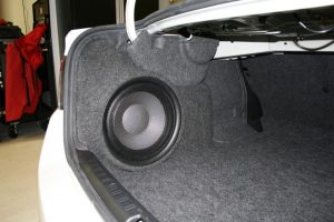 Side-Mount Enclosure Saves Space In Portland Subaru Impreza Trunk
