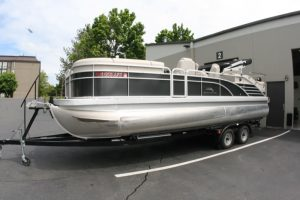 Bennington Pontoon Boat Audio System for Wilsonville Client