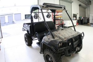 John Deere Gator Lighting and Audio Upgrade for Portland Client